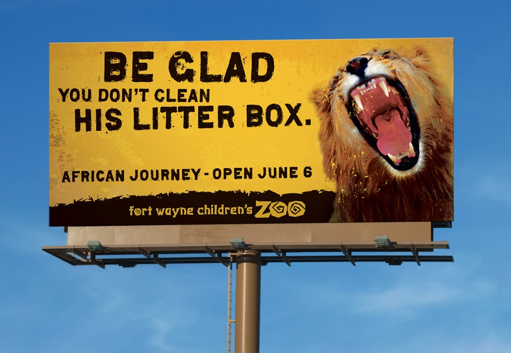 Fort Wayne Children's Zoo billboard
